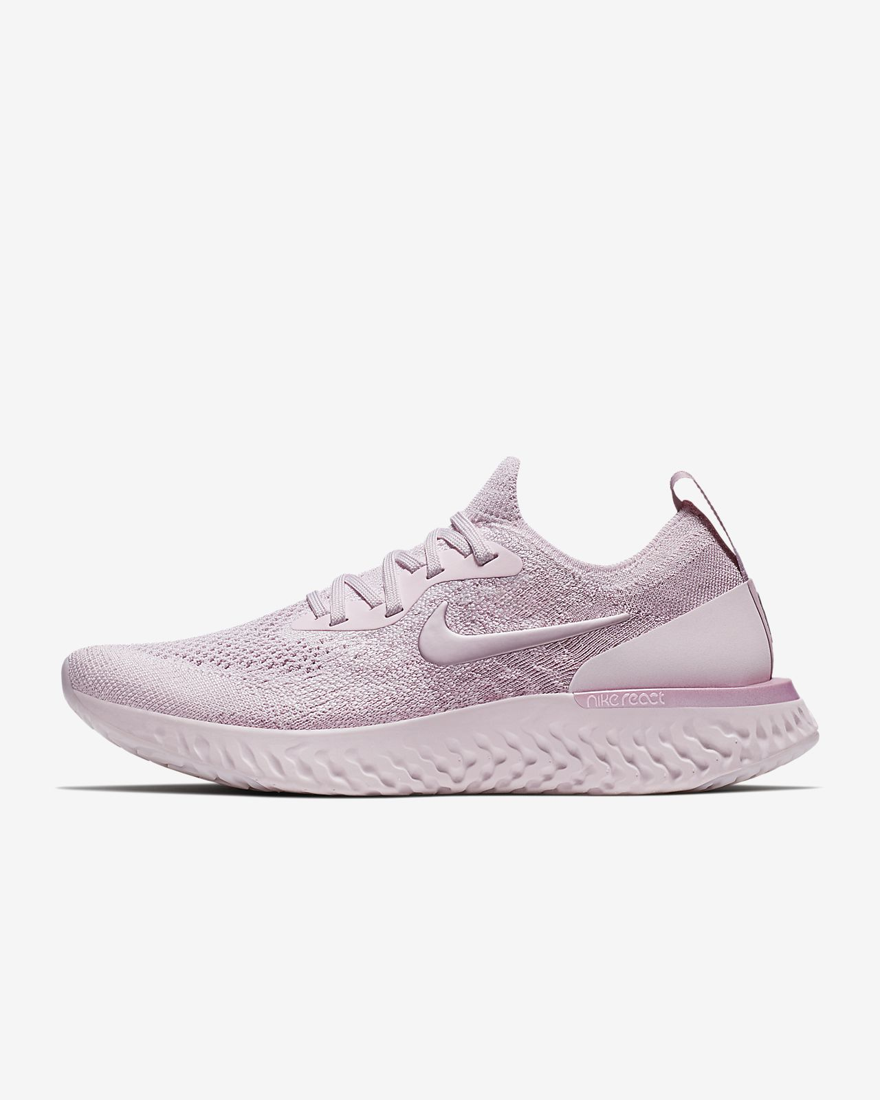 Epic React Flyknit Lo Sneaker chaussures rose roseNike