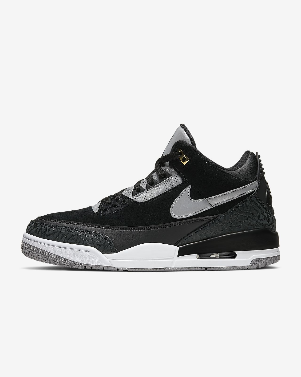 Nike Air Jordan 3 Retro Mädchen Lifestyle Schuhe Im Schwarz