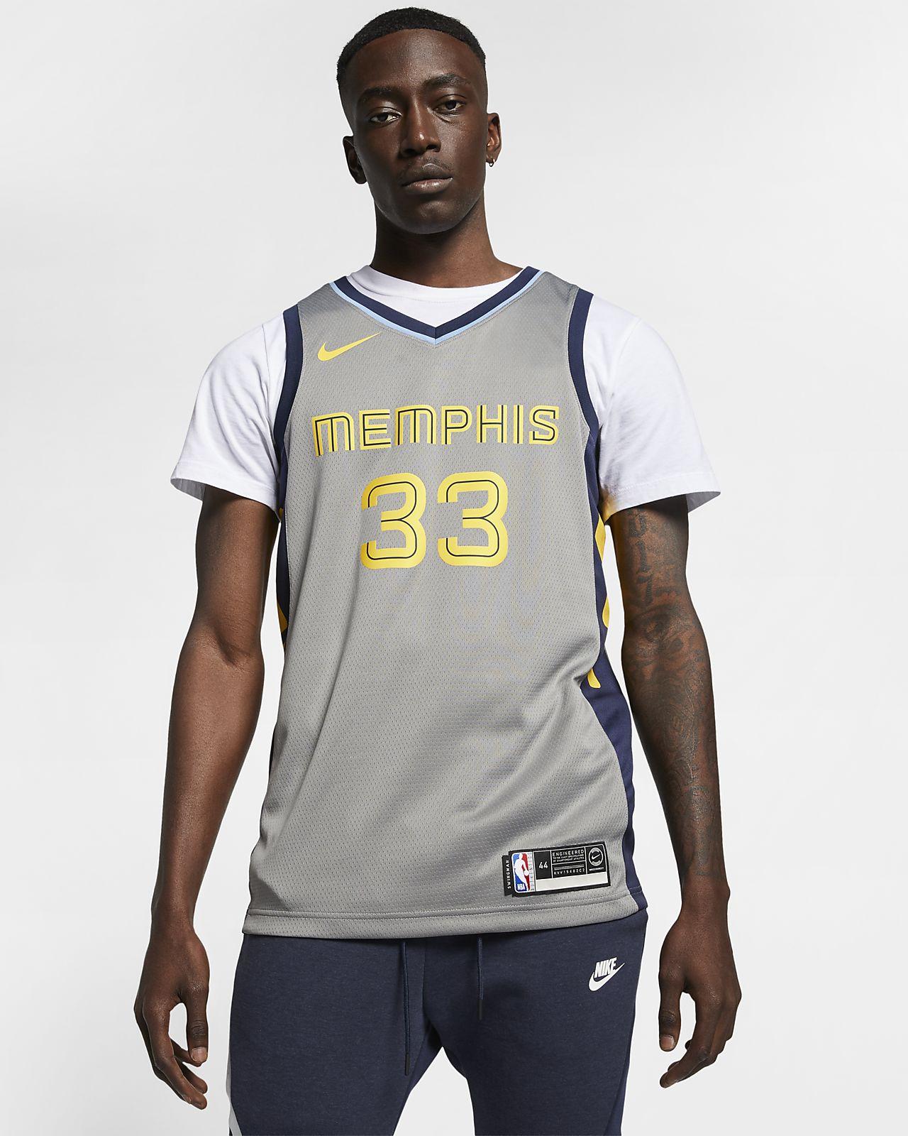 Maillot connecté Nike NBA Marc Gasol City Edition Swingman (Memphis Grizzlies) pour Homme