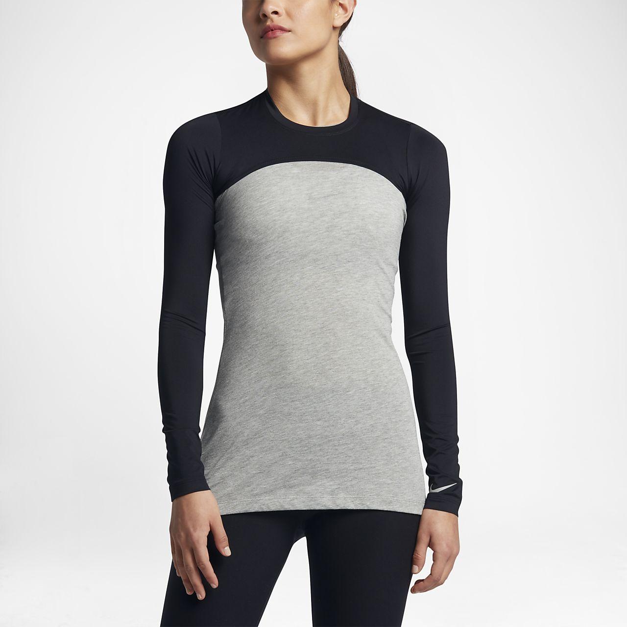 เสื้อกอล์ฟสตรี Nike Dry UV Cropped Baselayer