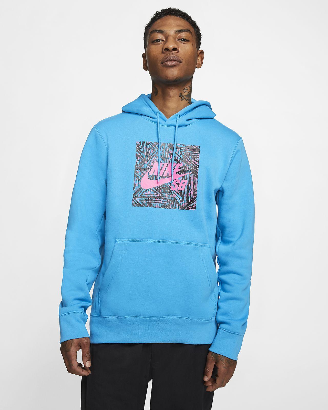 Nike SB Grafikli Kapüşonlu Erkek Kaykay Üstü