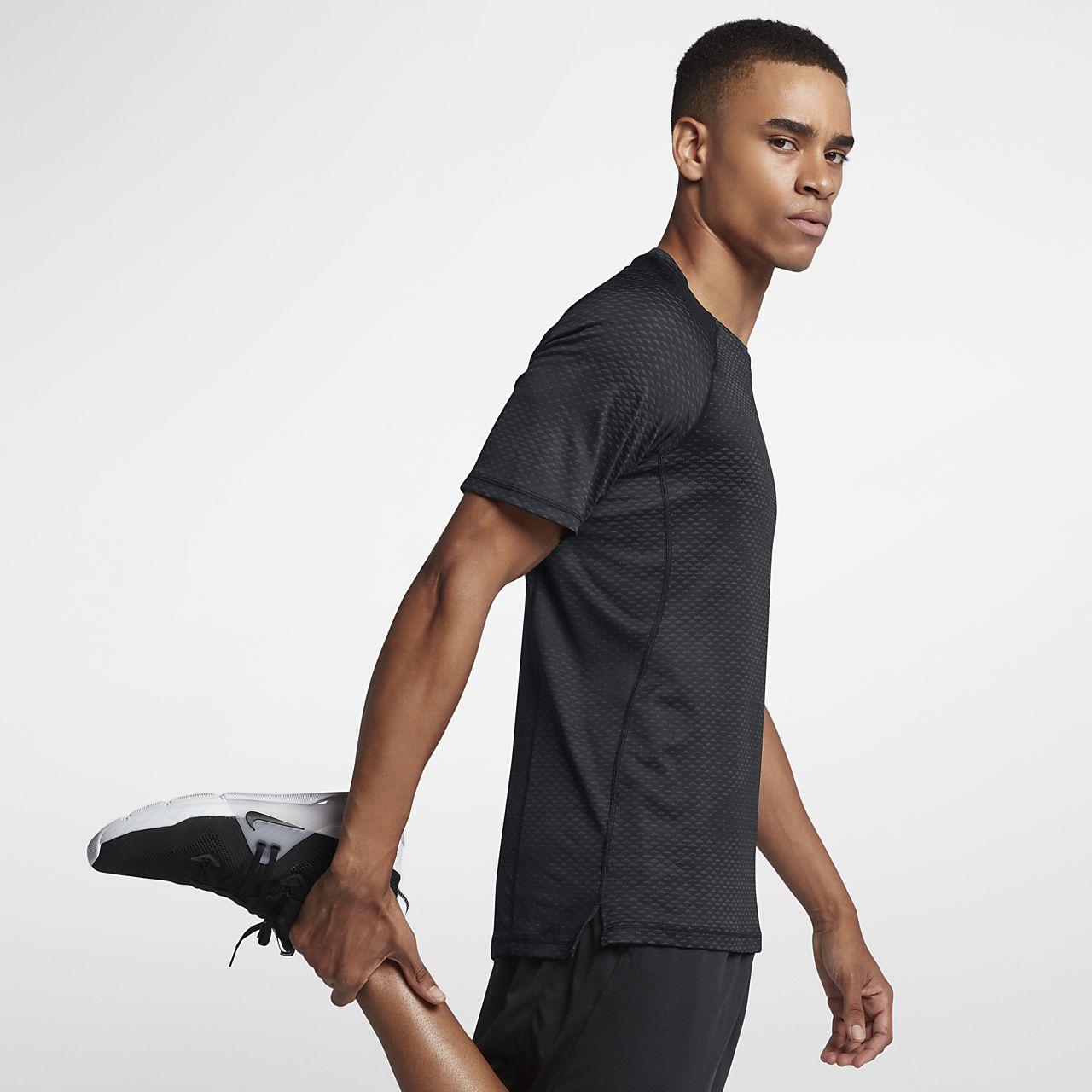 finest selection 32205 2b4a2 ... Nike Pro HyperCool Men s Short-Sleeve Training Top