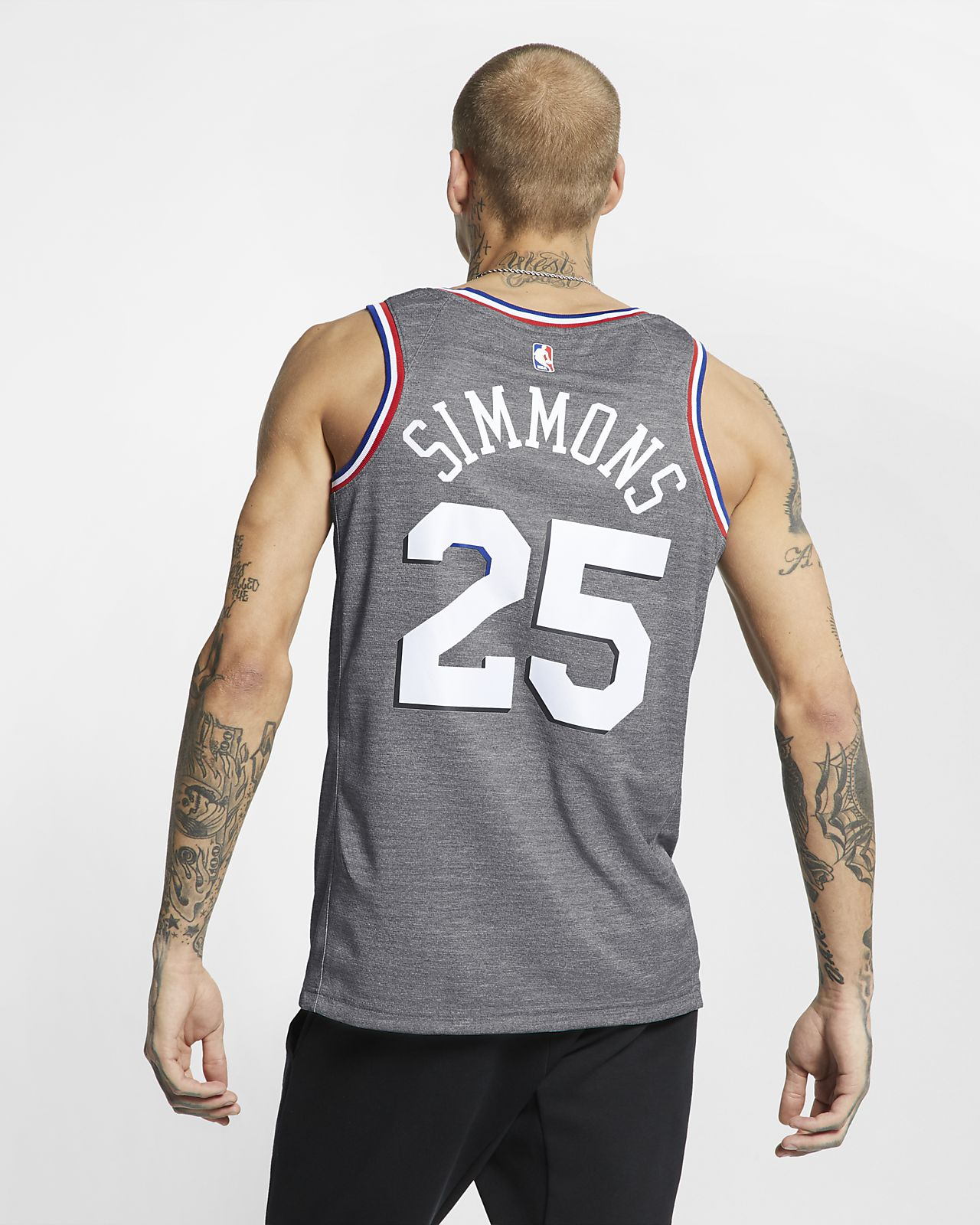 super popular d2534 18f87 Ben Simmons City Edition Swingman (Philadelphia 76ers) Men's Nike NBA  Connected Jersey