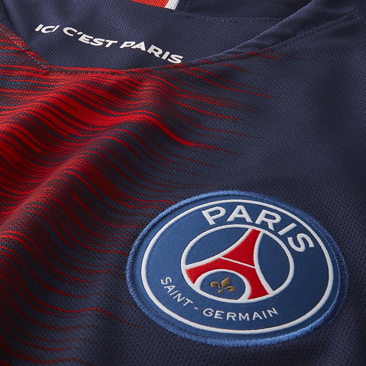 d6fc6f866b9 2018 19 Paris Saint-Germain Stadium Home Men s Football Shirt. Nike ...