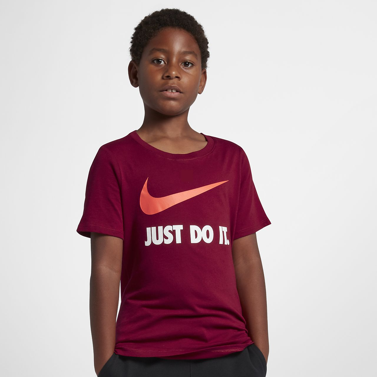 bcd96a2838dd Nike Just Do It Swoosh Big Kids  (Boys ) T-Shirt. Nike.com