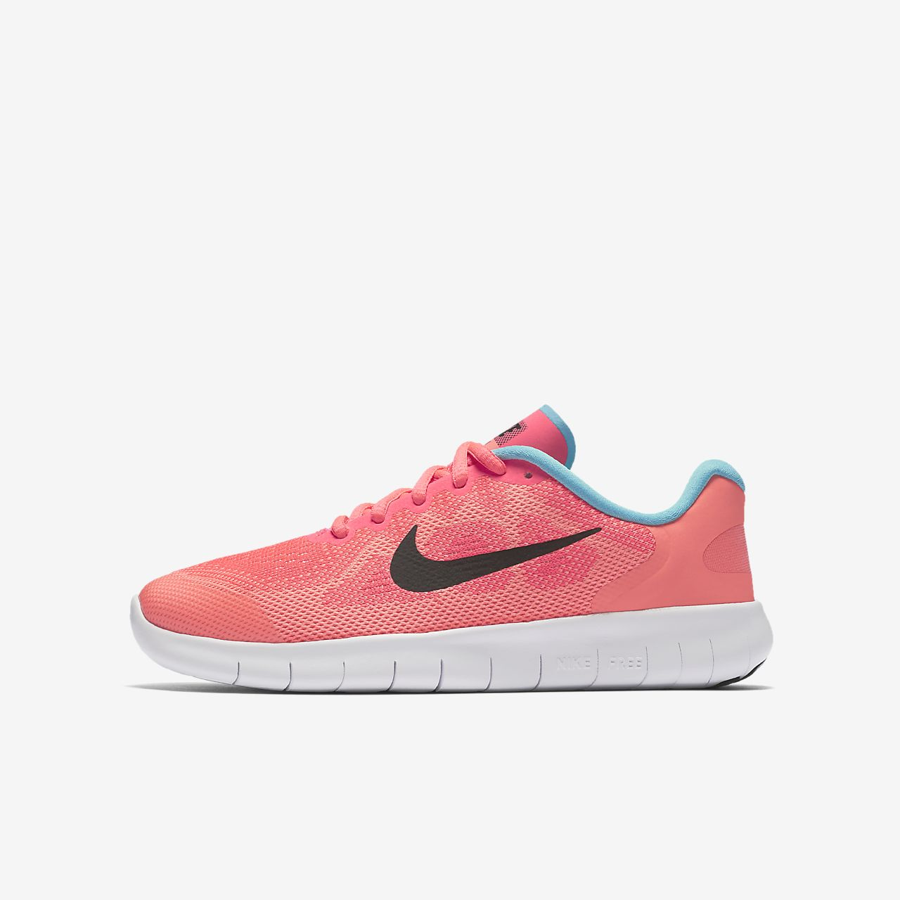 Nike Free RN 2017 Kids Shoes Racer Pink/Lava Glow/Pure Platinum/Black