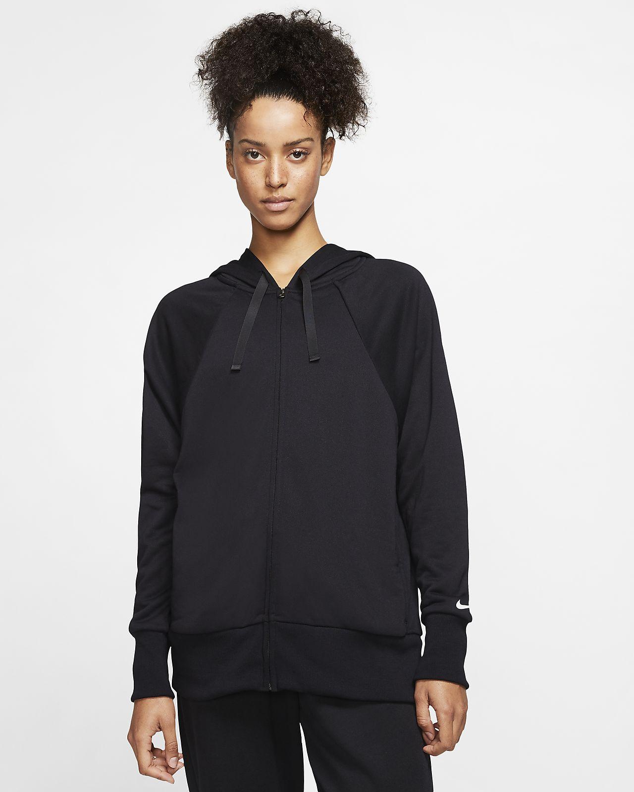 Sweat à capuche de training à zip en tissu Fleece Nike Dri-FIT Get Fit pour Femme