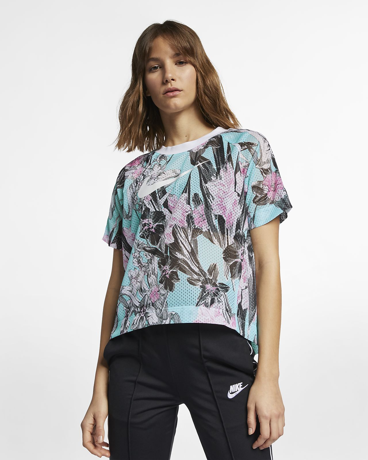 Nike Sportswear Women's Short-Sleeve Floral Top