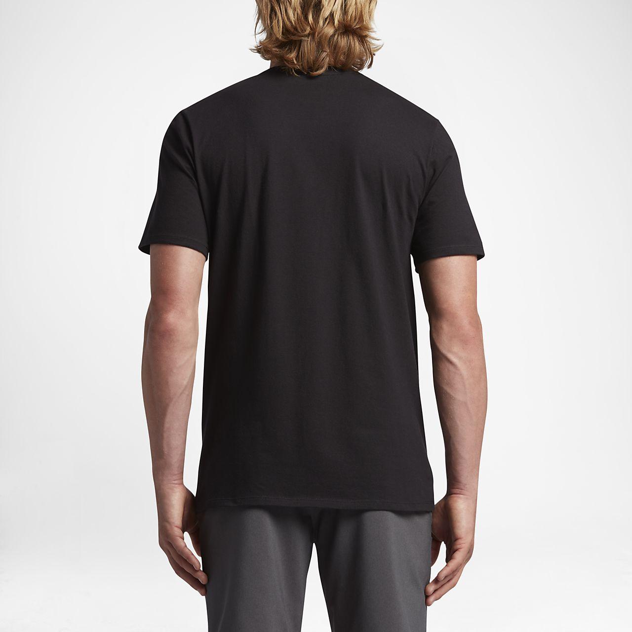 Hurley Icon Slash Push Through Men's T-Shirts Black