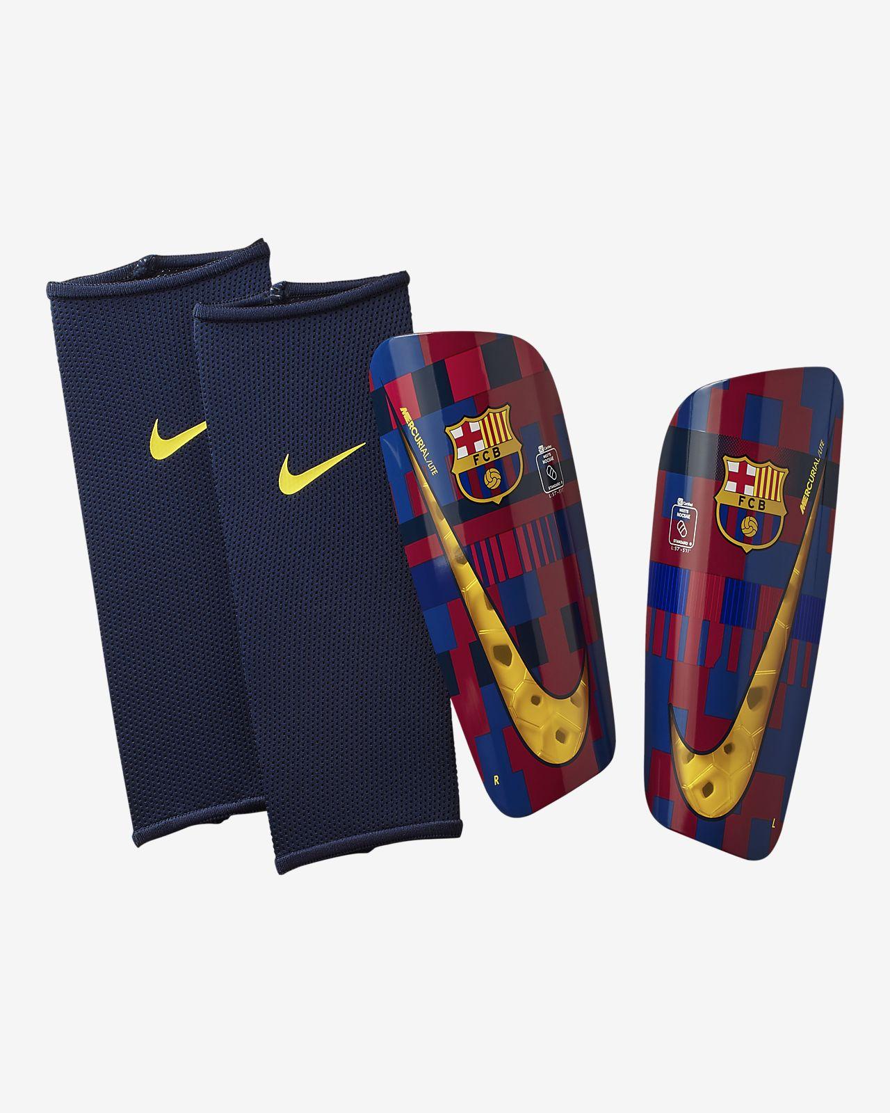 Fotbollsbenskydd FC Barcelona Mercurial Lite