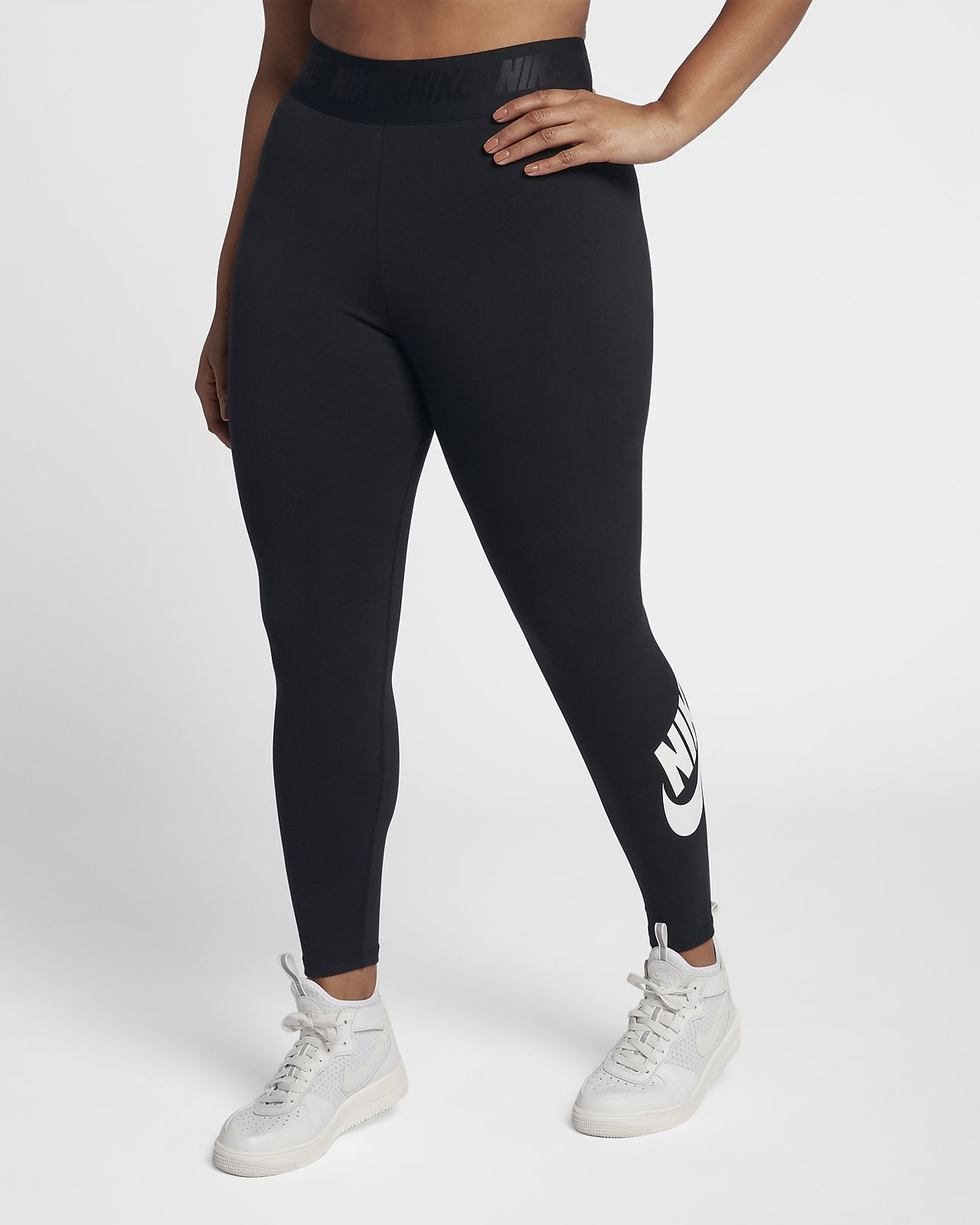 Pay With Visa For Sale Sale Best Place Plus Leg-A-See High Waisted Leggings In Black - Black Nike n8WZW
