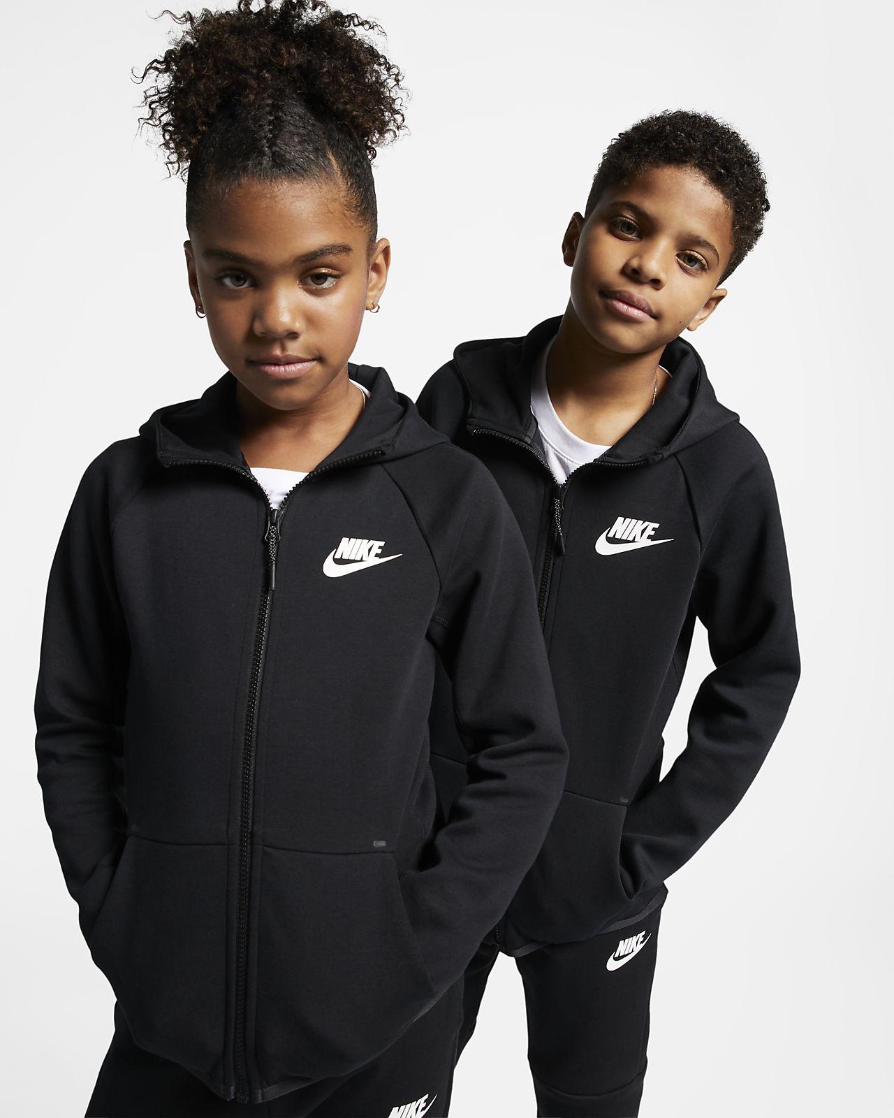 Bluza dla dużych dzieci z zamkiem na całej długości Nike Sportswear Tech Fleece