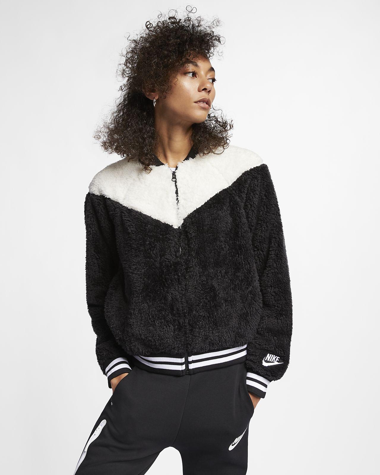 Chamarra bomber de sherpa para mujer Nike Sportswear