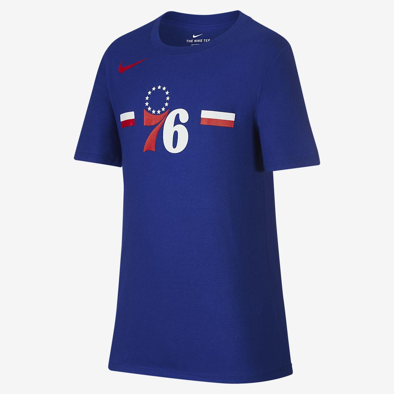 费城 76 人队 Nike Dri-FITNike 大童(男孩)NBA T恤