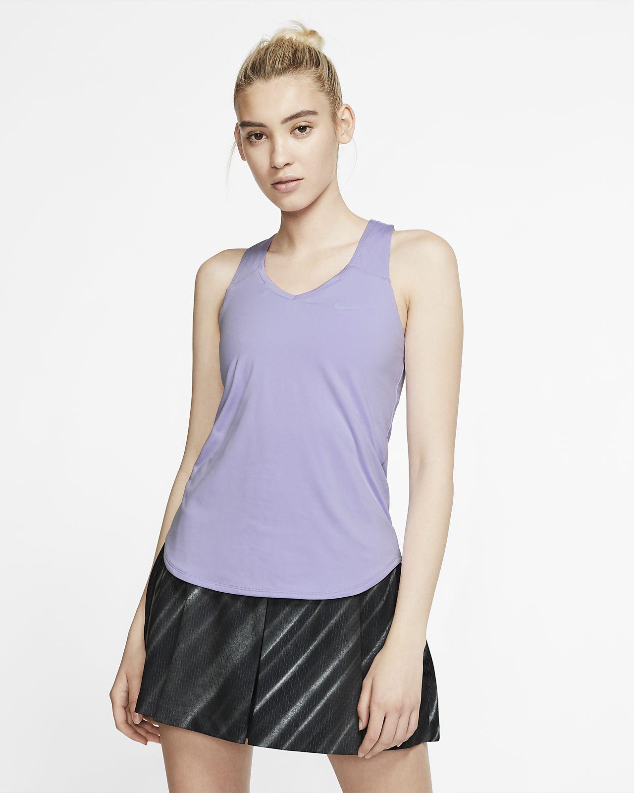 Camisola de ténis sem mangas NikeCourt Team Pure para mulher