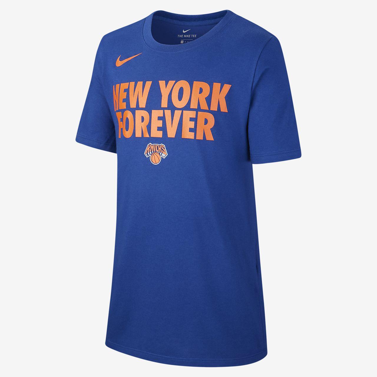 NBA-t-shirt New York Knicks Nike Dri-FIT för killar