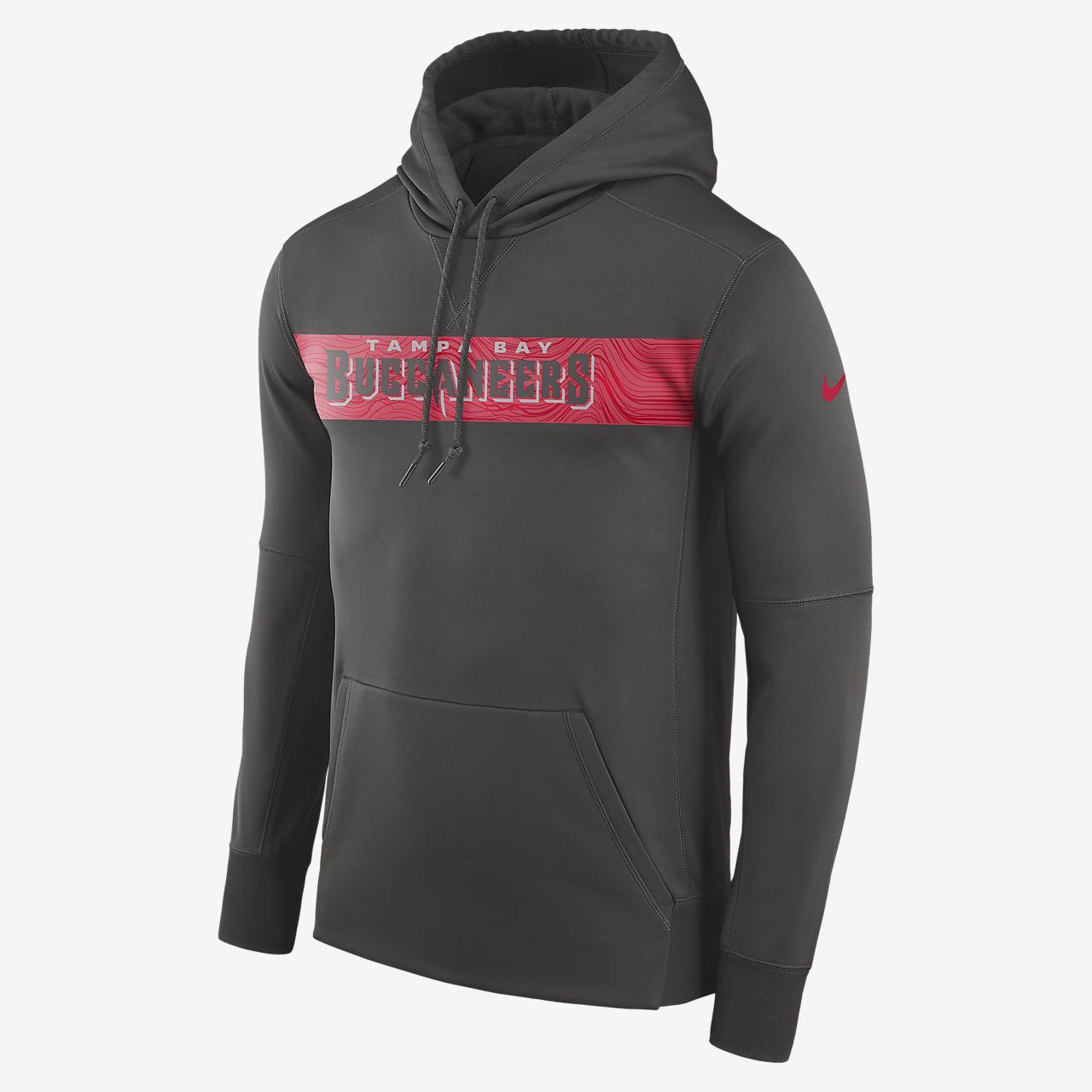 Nike Dri-FIT Therma (NFL Buccaneers) férfi belebújós kapucnis pulóver