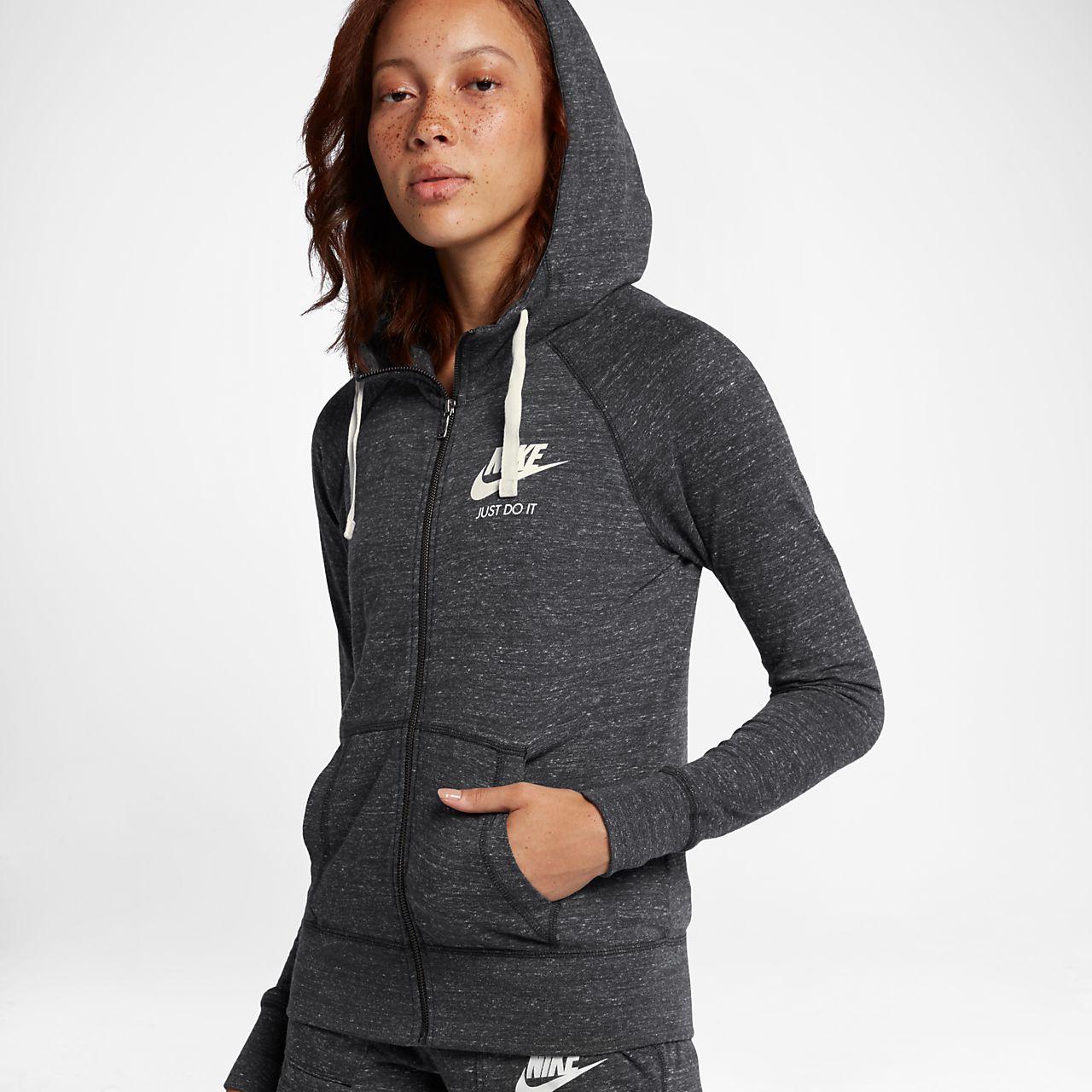 6842d8be2f ... Felpa con cappuccio e zip a tutta lunghezza Nike Sportswear Gym Vintage  - Donna