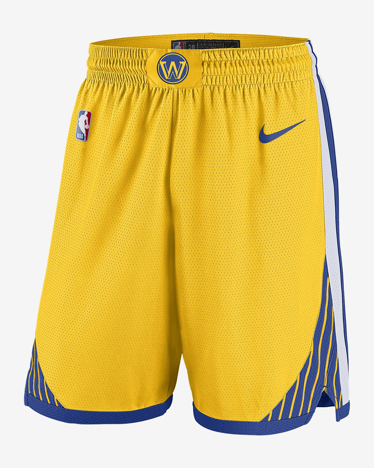 NBA-shorts Golden State Warriors Statement Edition Swingman för män