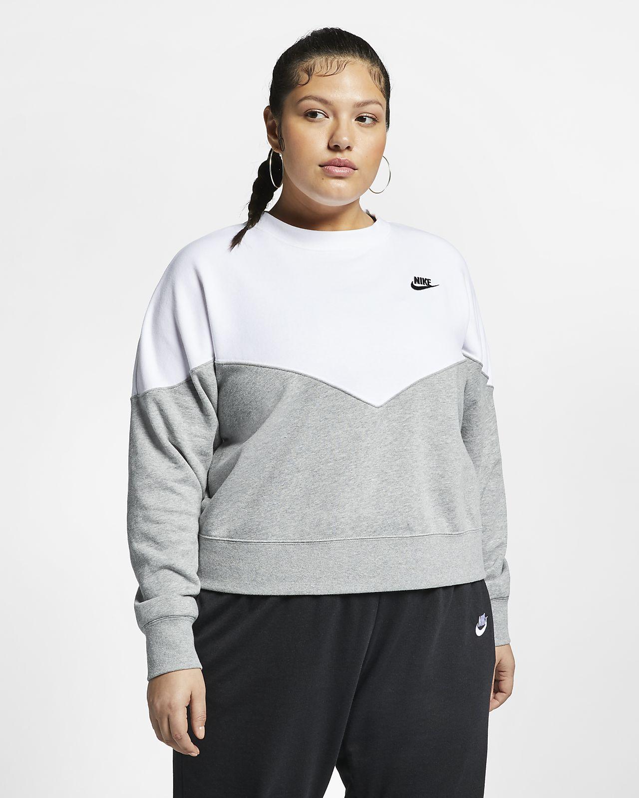 Nike Sportswear Heritage Women's Fleece Crew (Plus Size)