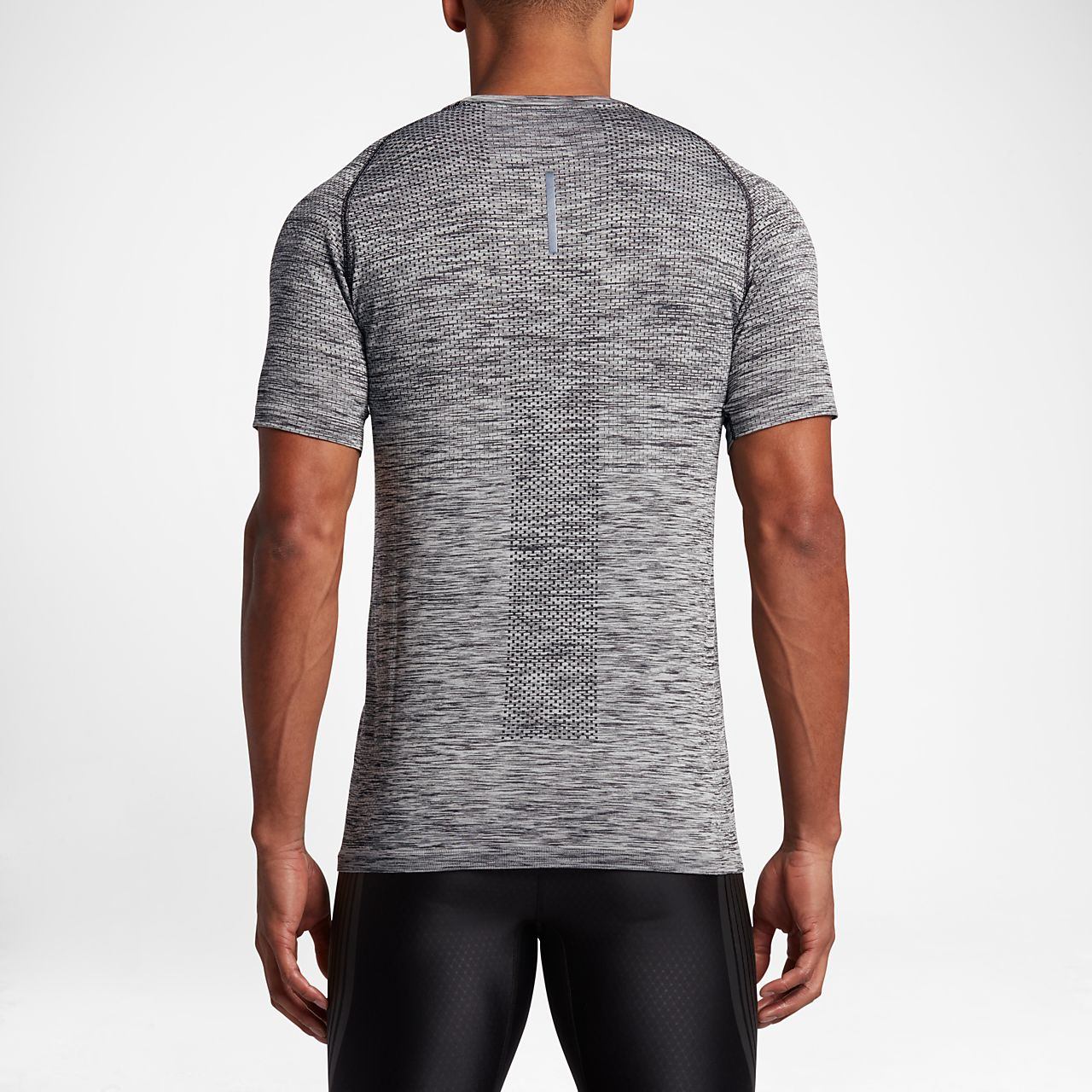 Nike Dry Knit Men's Short Sleeve Running Top Black/Heather