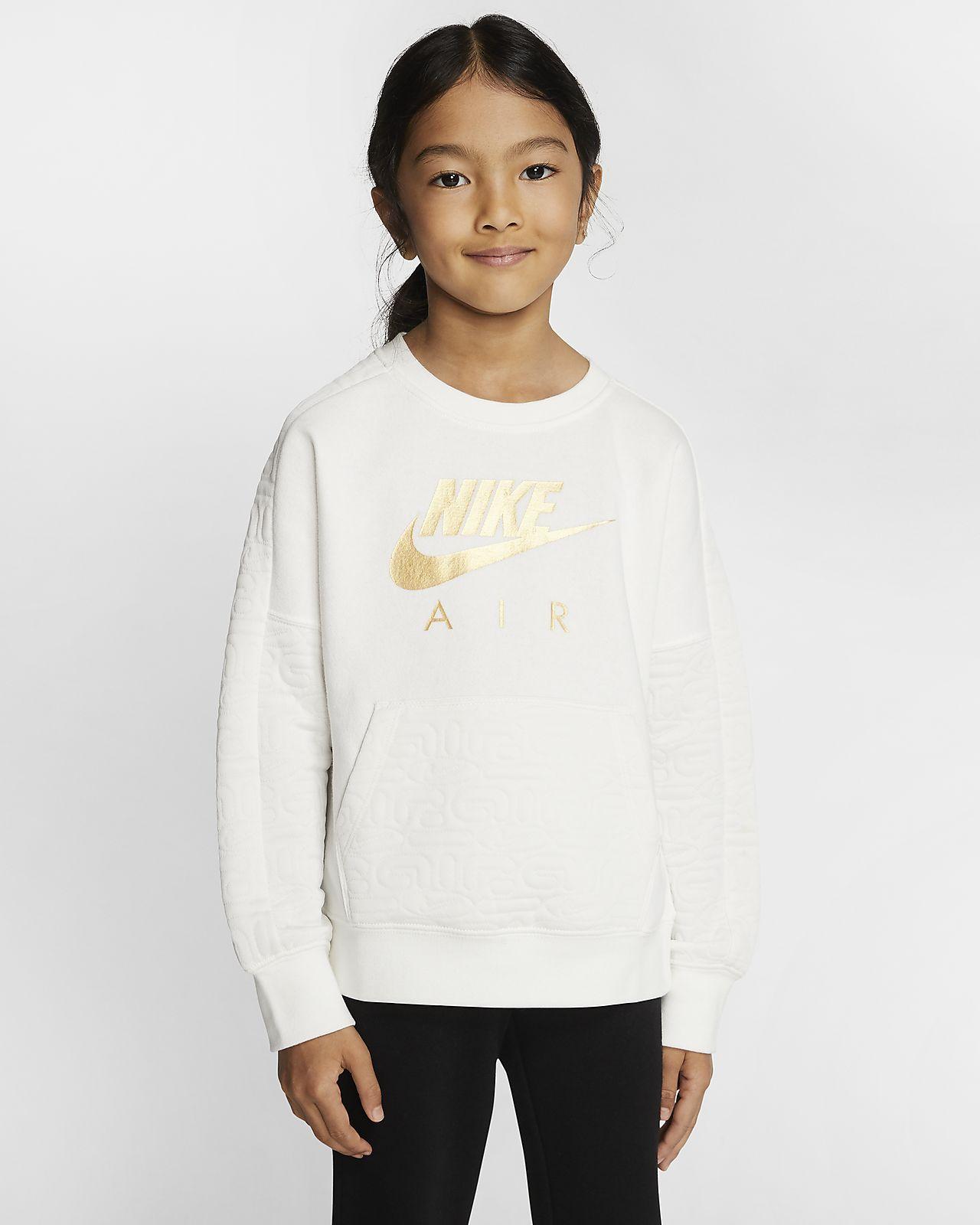 Nike Air Fleeceshirt met ronde hals voor kleuters