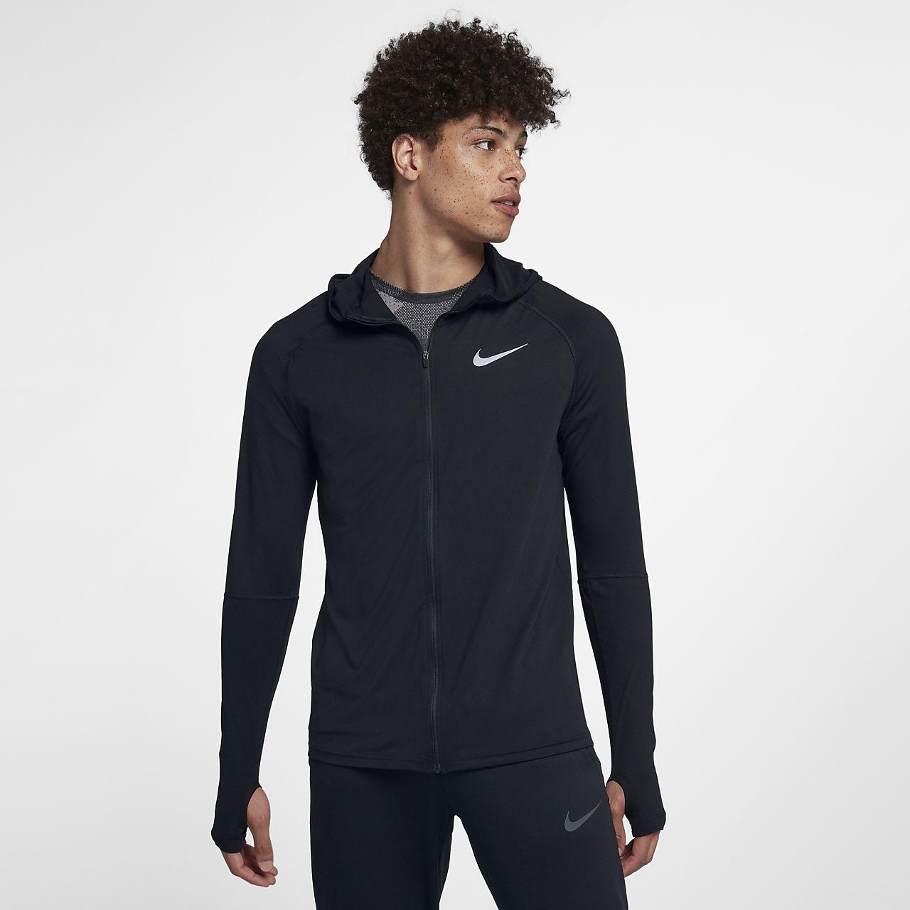 Sweat à capuche de running entièrement zippé Nike Element pour Homme ... 6631dc04b295