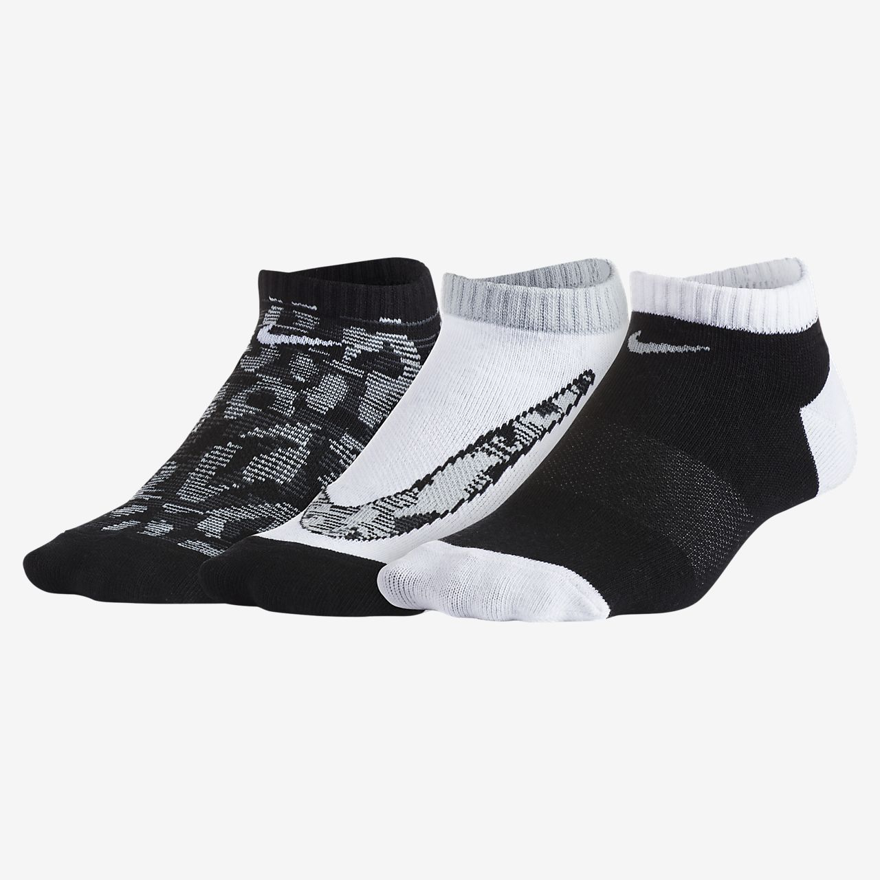 Nike Tigress No-Show Younger Kids' Socks (3 Pair)