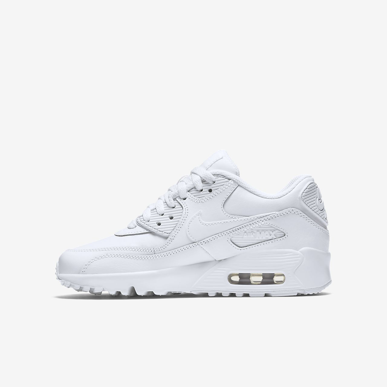 Nike Air Max 90 Leather White Menos De 50 Dólares 2hqxN4XFCE