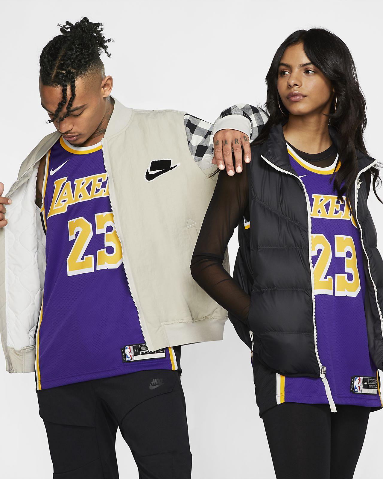洛杉矶湖人队 (LeBron James) Statement Edition Swingman Nike NBA Connected Jersey 男子球衣