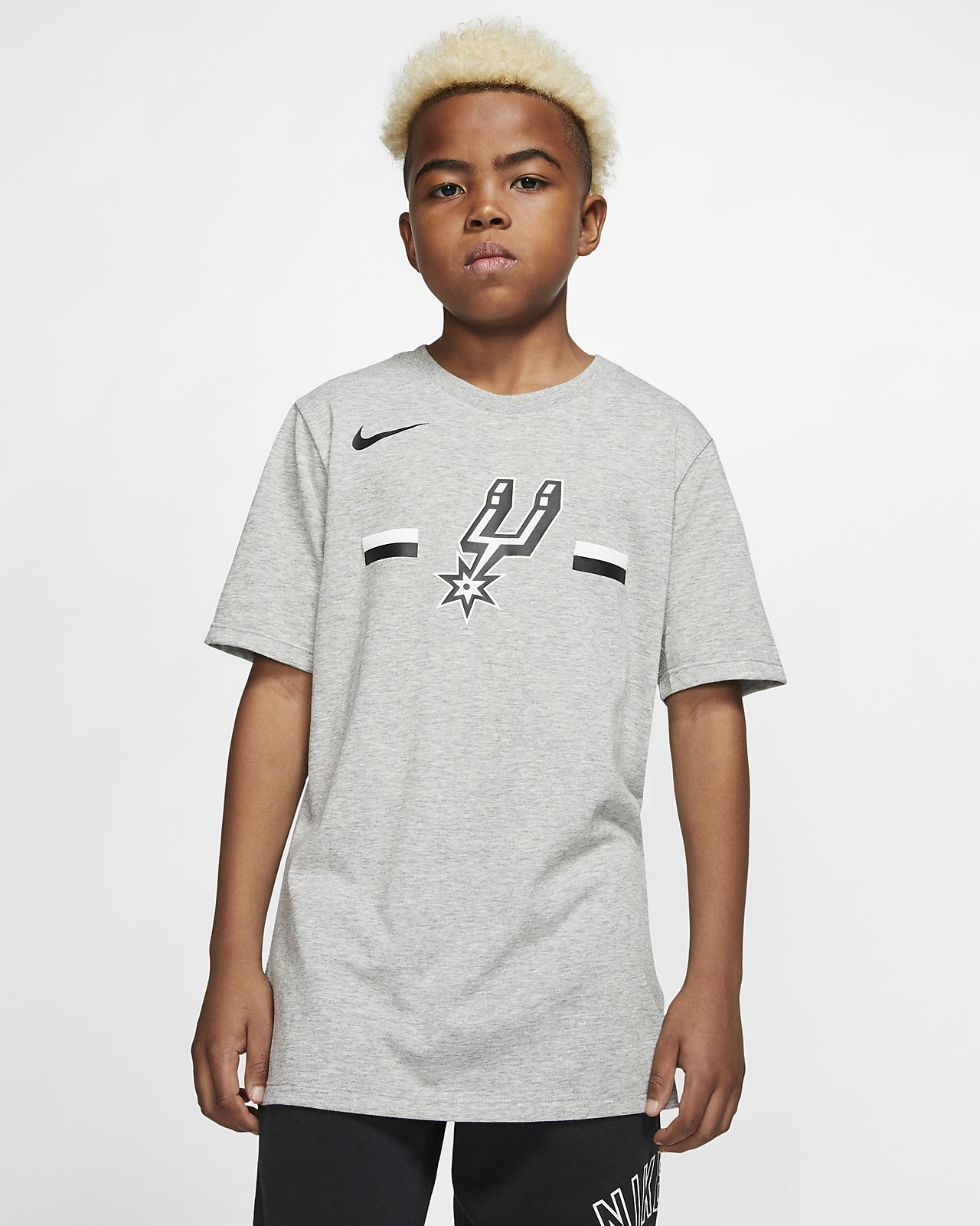 San Antonio Spurs Nike Dri-FIT Logo Big Kids' NBA T-Shirt