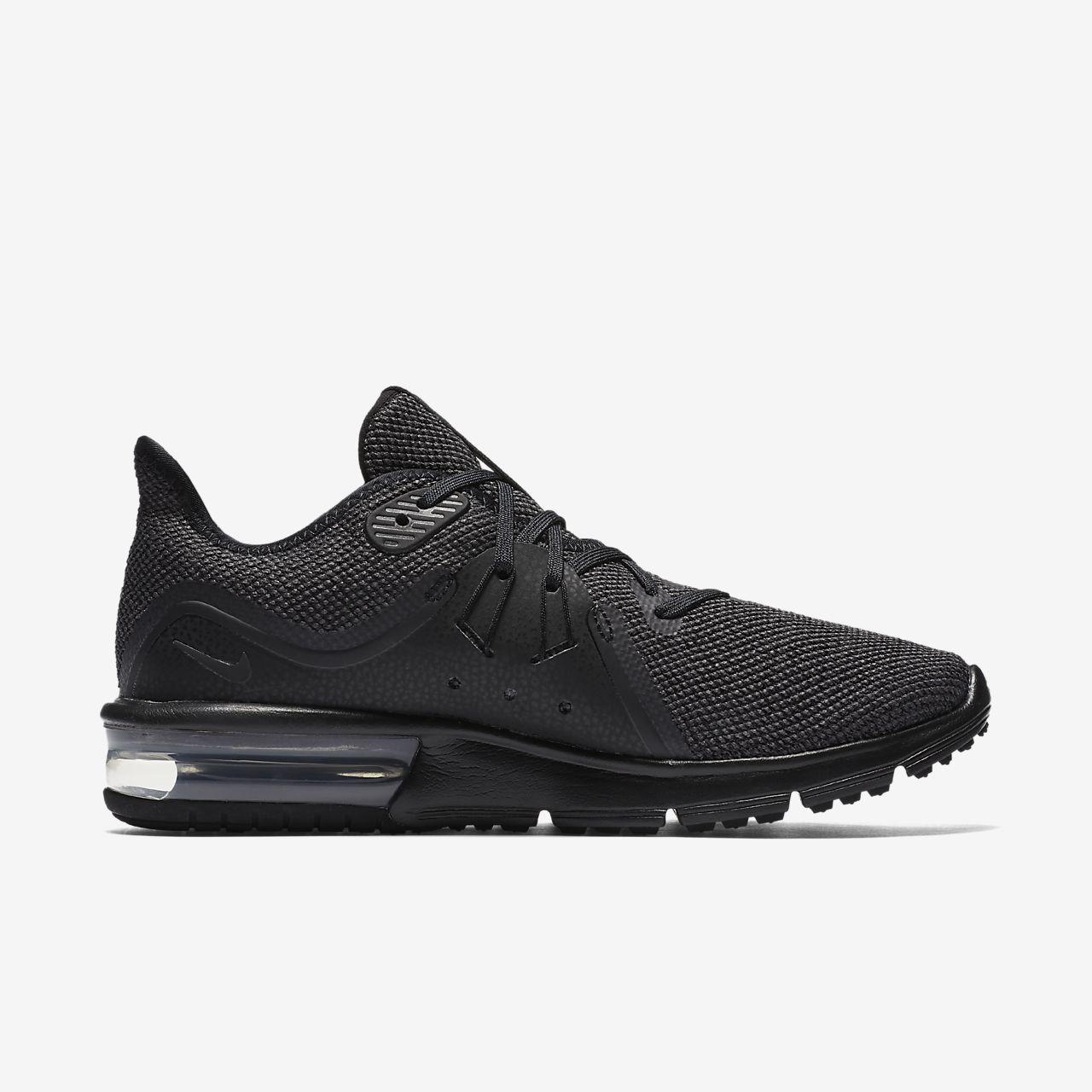 Nike WMNS Air Max Sequent 3, Chaussures de Running Femme, Noir (Black/Anthracite 010), 36.5 EU