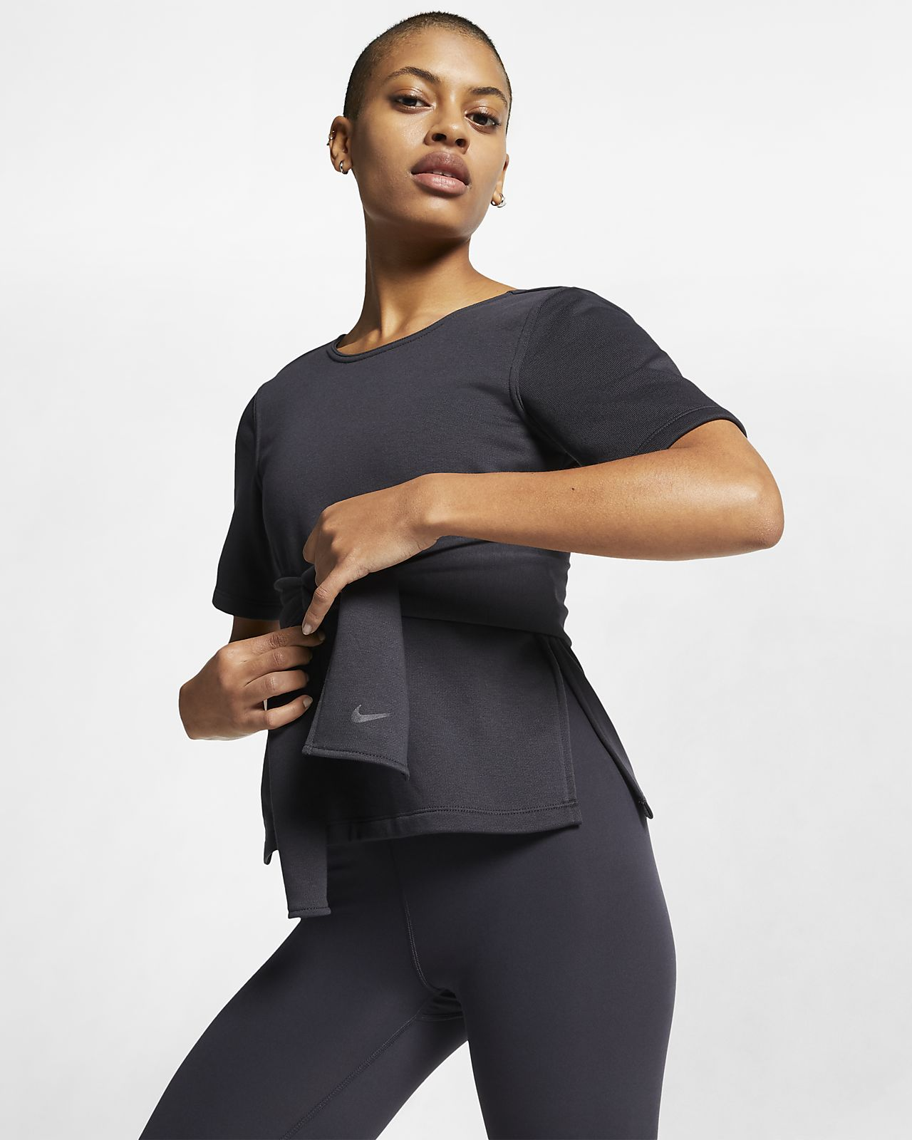 Nike Studio Women's Short-Sleeve Yoga Training Top