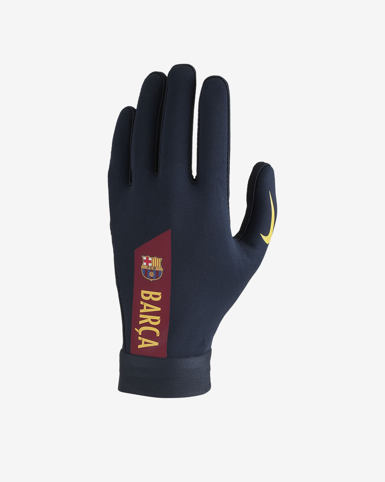 Rękawice piłkarskie Nike HyperWarm FC Barcelona Academy