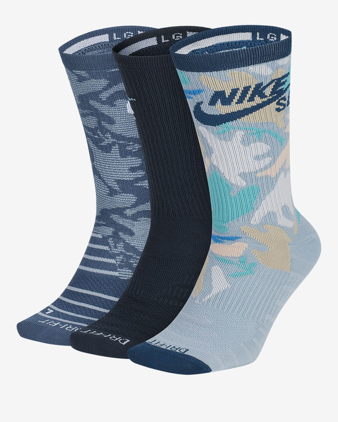 3a4e76ad4d24 Nike SB Everyday Max Lightweight Skate Crew Socks (3 Pairs). Nike.com AU