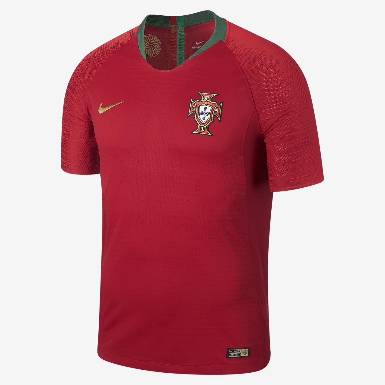 Camiseta de fútbol para hombre 2018 Portugal Vapor Match Home