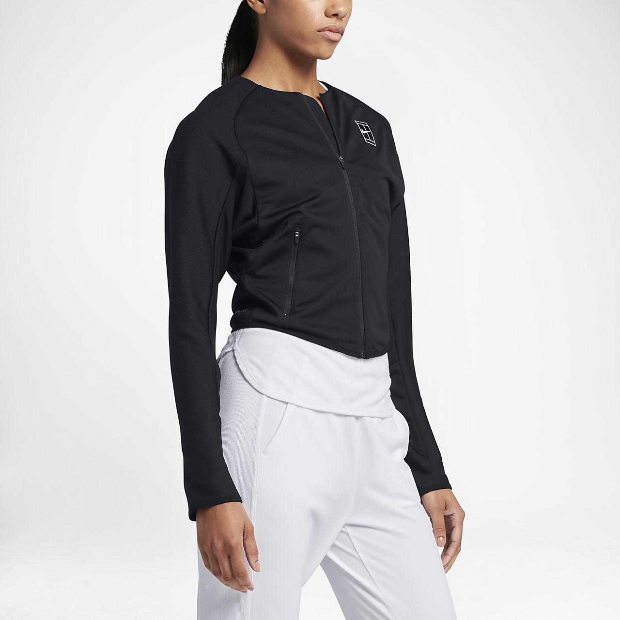 NikeCourt Women's Knit Tennis Jackets Black/White