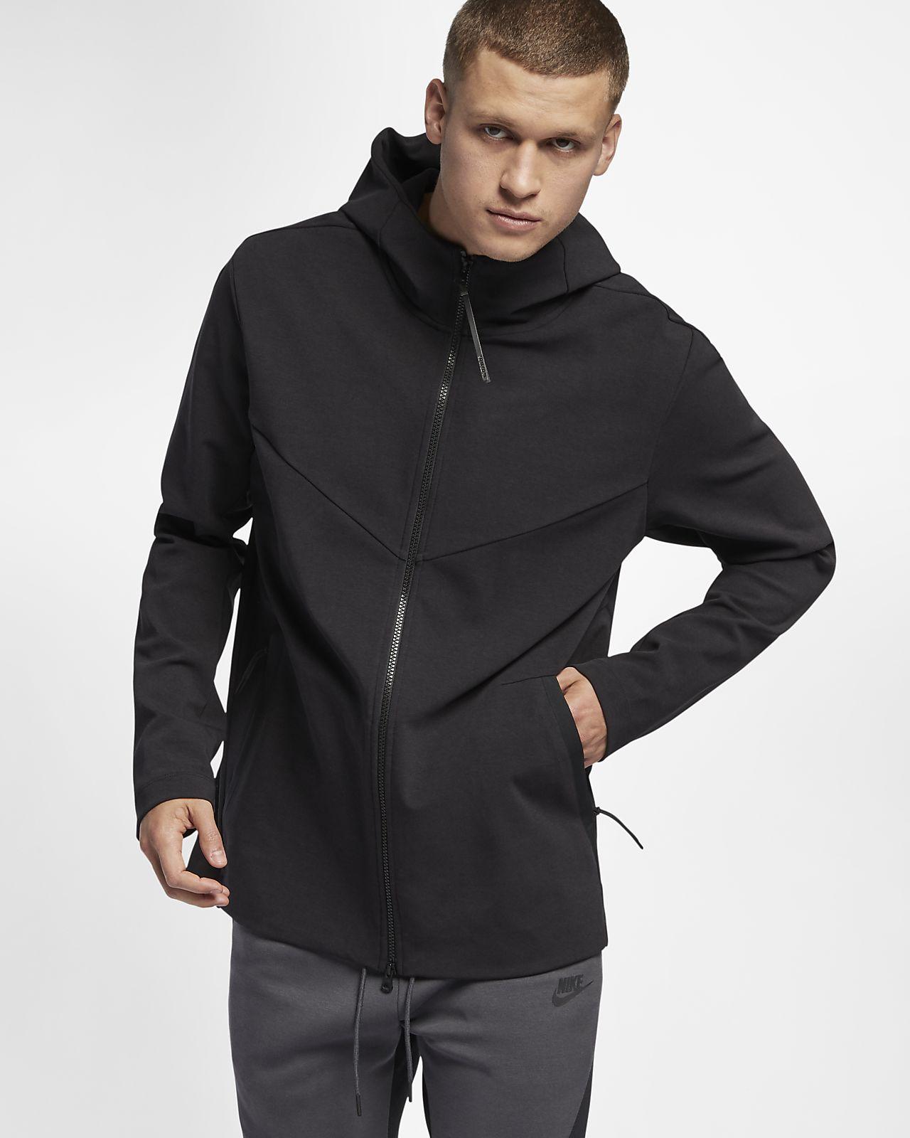 nike veste zippée à capuche tech homme
