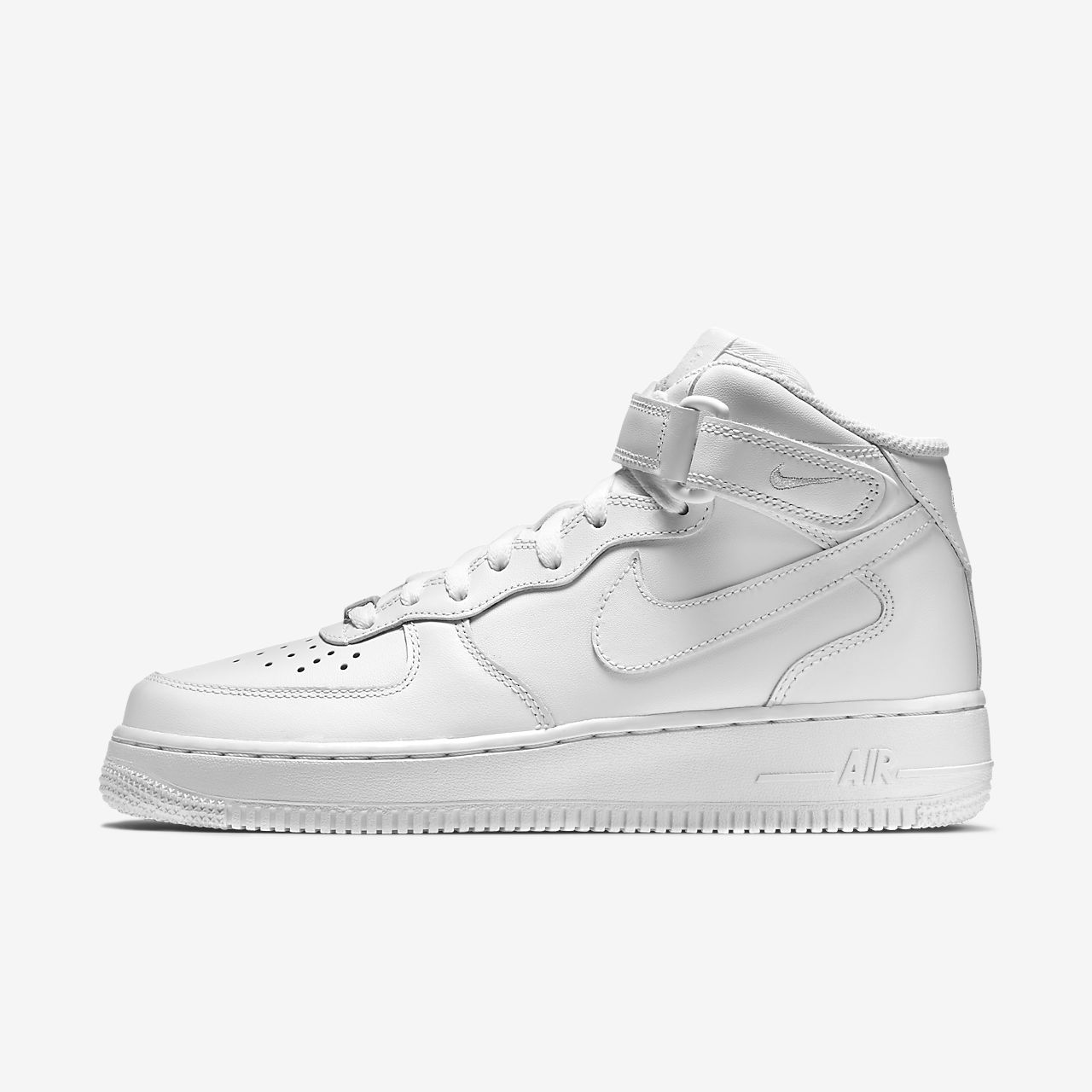 white nike air force 1 high-top sneakers women