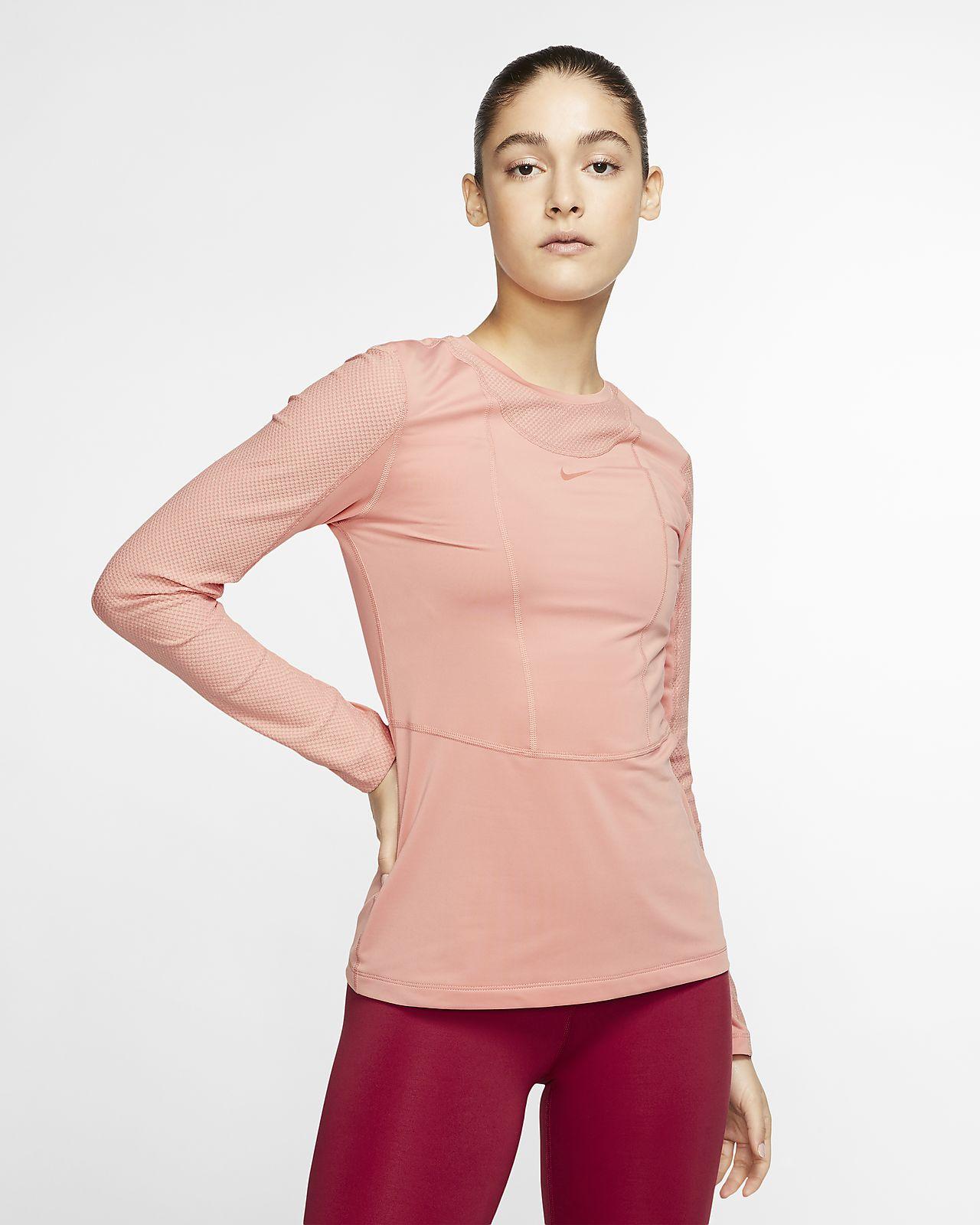 Damska koszulka z długim rękawem Nike Pro Warm