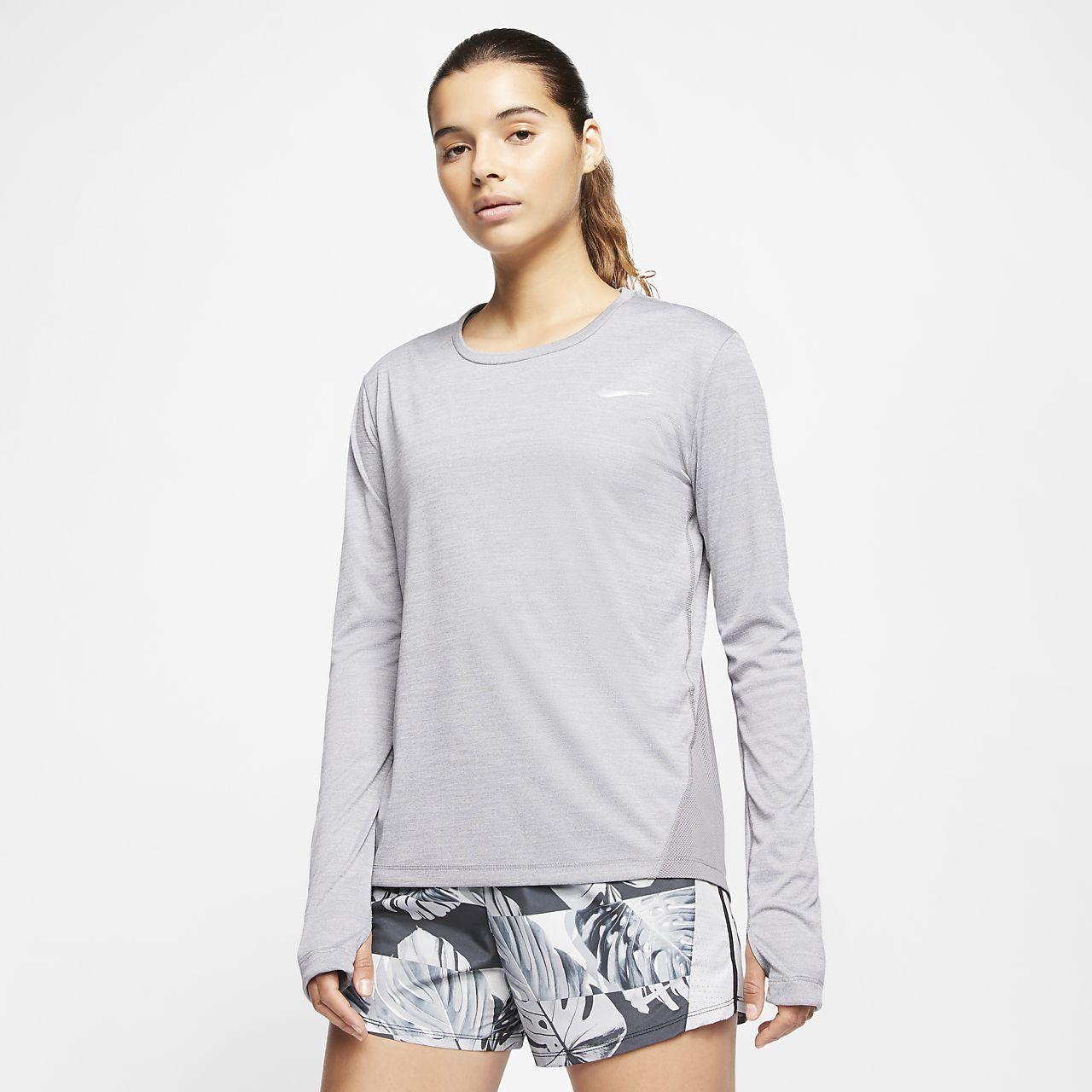 Prenda para la parte superior de running para mujer Nike Miler