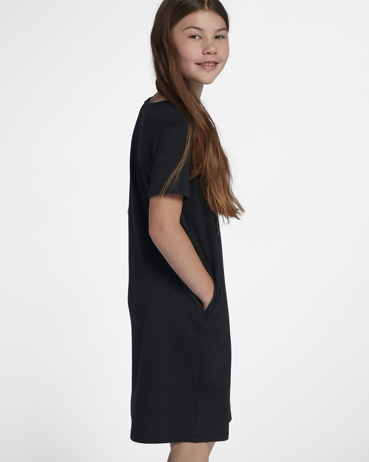 Nike Sportswear Older Kids  (Girls ) T-Shirt Dress. Nike.com SG 4a0628921