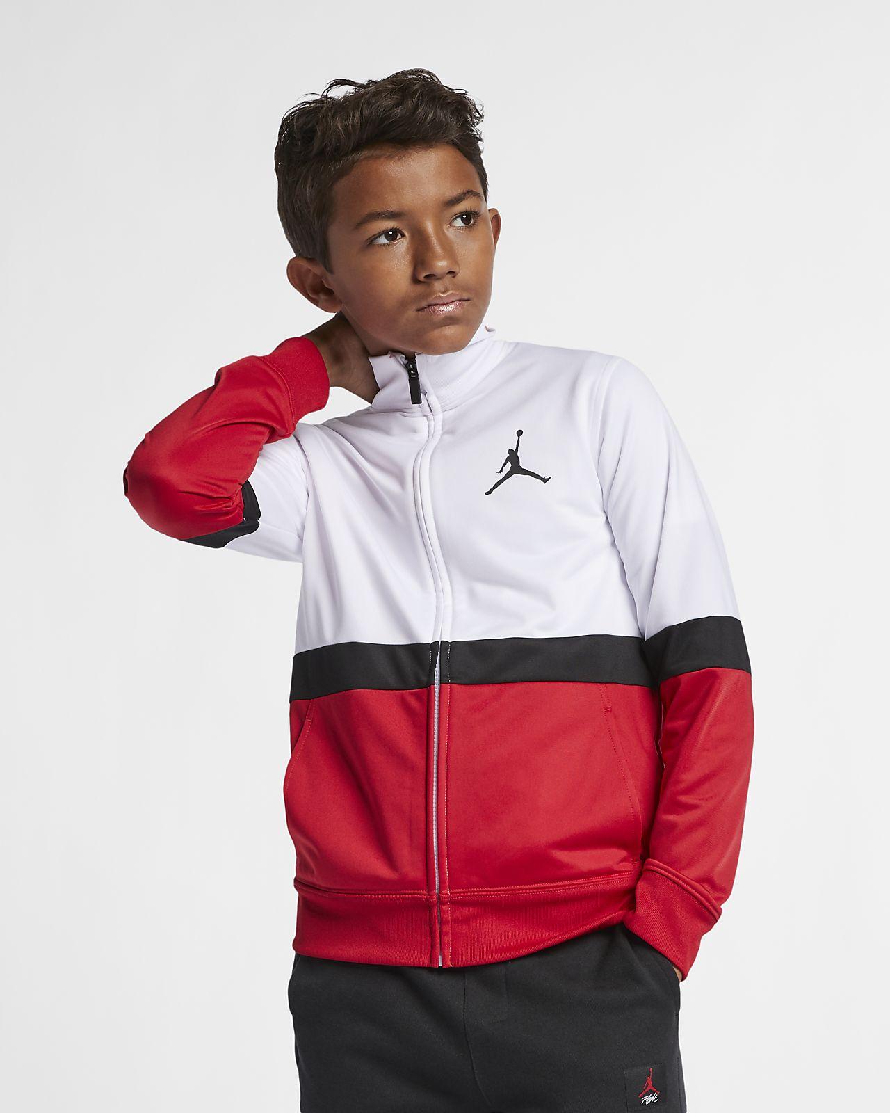 Jordan Sportswear Diamond-jakke med lynlås til store børn (drenge)