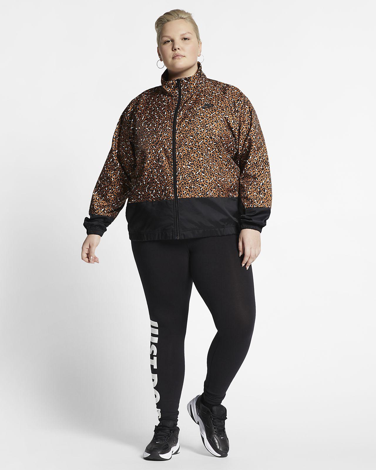 6e6c4c2e391 ... Nike Sportswear Animal Print-vævet jakke til kvinder (Plus Size)Nike  Sportswear Animal