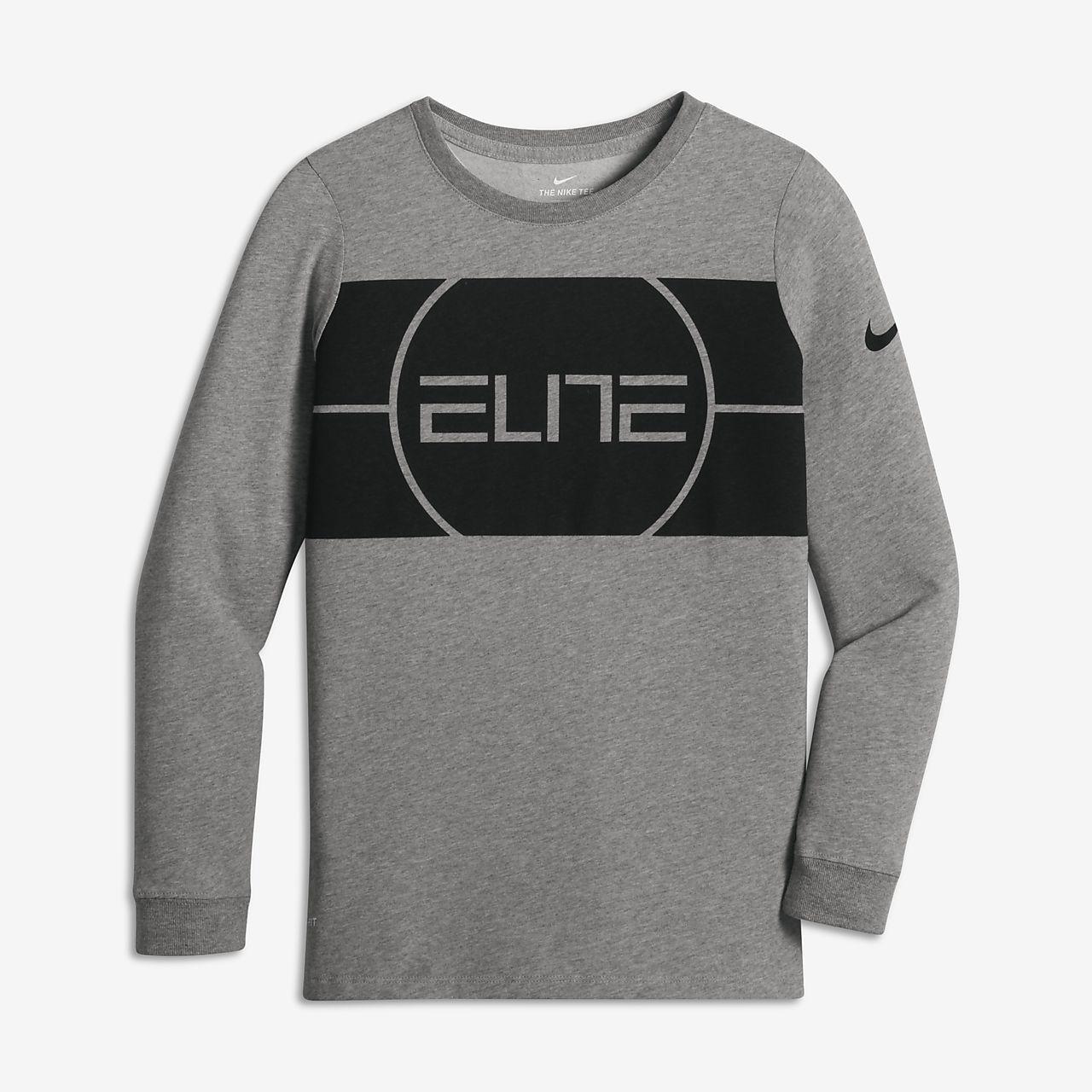 Nike Dry Elite Logo Big Kids 39 Boys 39 Long Sleeve