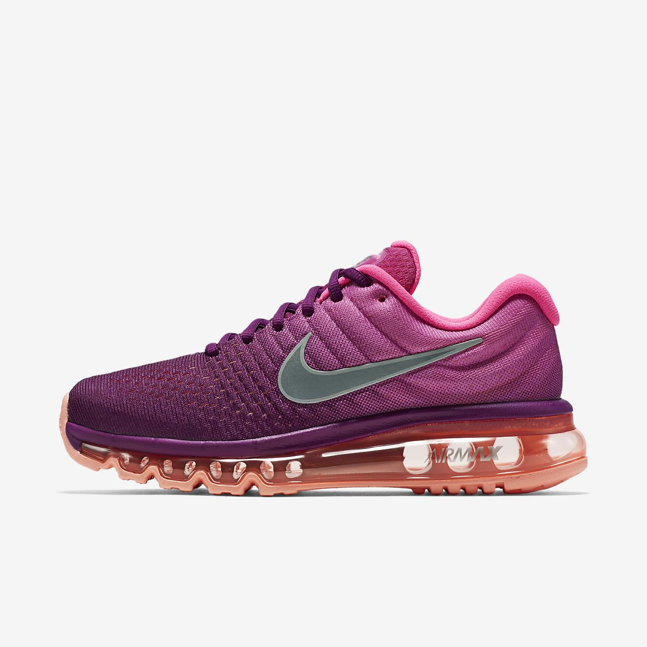 NIKE AIR MAX 2017 Womens Bright Grape Fire Pink Running Shoe 849560-502 Sz 10.5