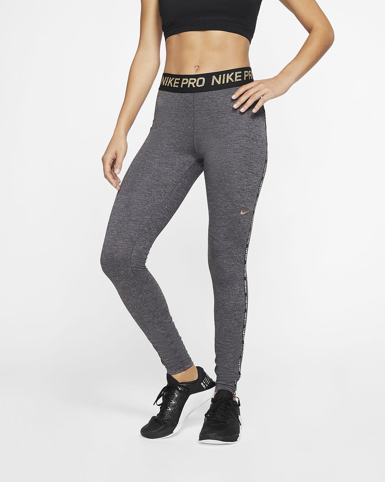 Leggings métallisé Nike Pro pour Femme