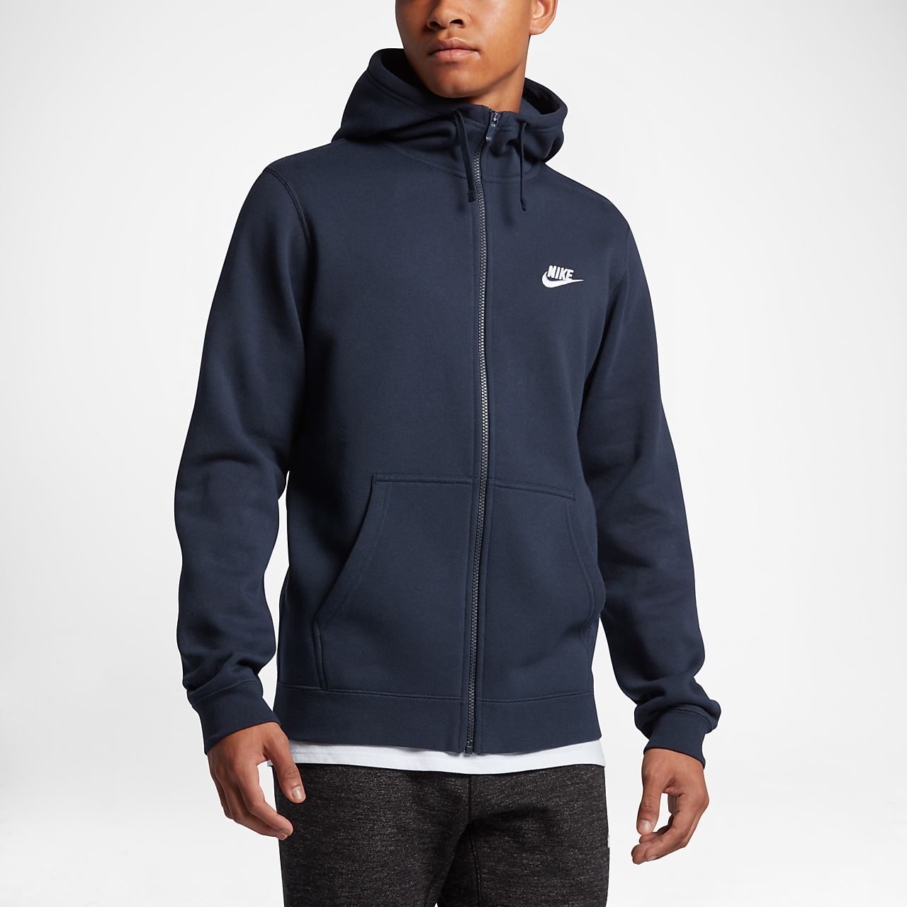 Nike Sportswear Full Zip Mens Hoodie Gb Zipper Polos Red
