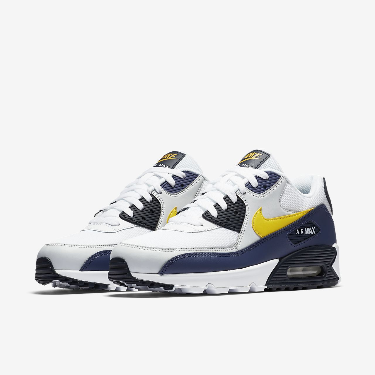 Nike Air Max 90 Hommes Bleu Et Blanc Chaussures Habillées