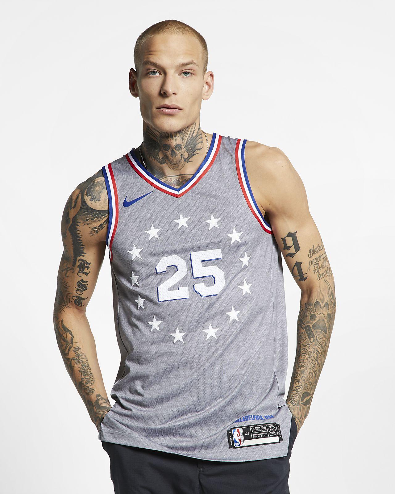Men s Nike NBA Connected Jersey. Ben Simmons City Edition Authentic  (Philadelphia 76ers) 5d4a9c579